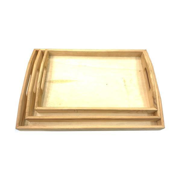 Wooden Rolling Tray Set Pack of 3 - YD021-Smoking Products-Unbranded-Grow Guru Ltd