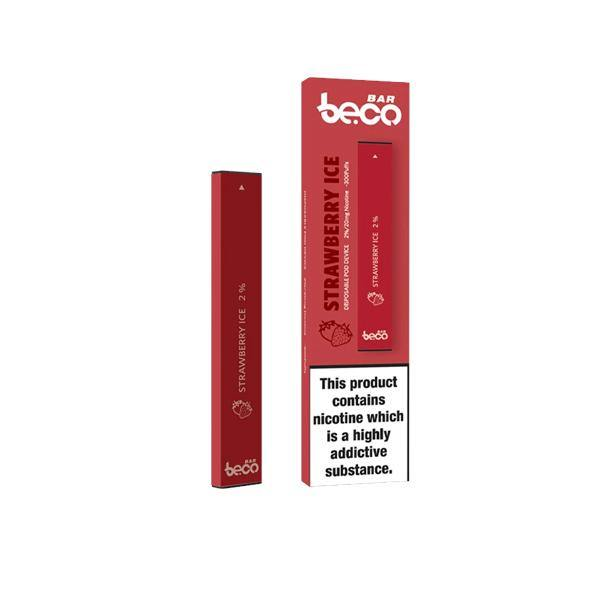 20mg Vaptio Beco Bar Disposable Vape Pod-Vaping Products-Vaptio Beco Bar-Strawberry Ice-Grow Guru Ltd