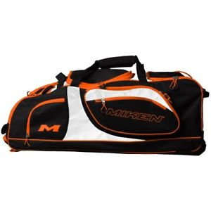 Miken Championship Wheeled Bag Black / Org
