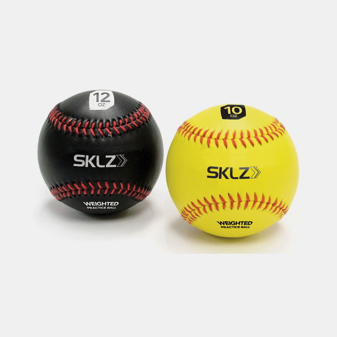 SKLZ -  Weighted Baseballs 2pk (BK 12 oz, Ylw 10oz)