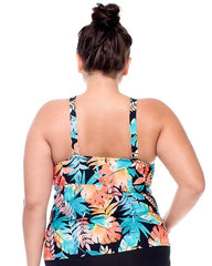 Sunsets Separates LORIKEET Plus Size Hannah High-Neck Tankini Top 387 C/D cup