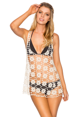 Lavish Cover Up CROCHET TOP Natural style 855 size L/XL