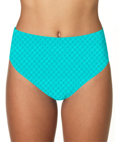 Sunsets NAUTICAL NET TROPICAL TEAL HIGH WAIST BOTTOM 30B
