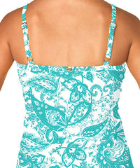 Sunsets PARKER PAISLEY UNDERWIRE TWIST TANKINI TOP 77T