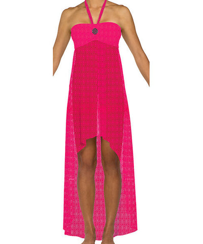 Swim Systems Dreamcatcher Azalea - Hi-Low Cabana Cover-Up Dress