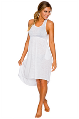 Lavish HIGH-LOW Cover Up Dress in Clouds White 812