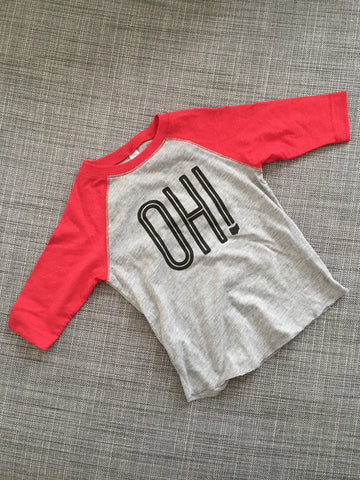 OH! Kids Raglan 3/4 Sleeve T-shirt