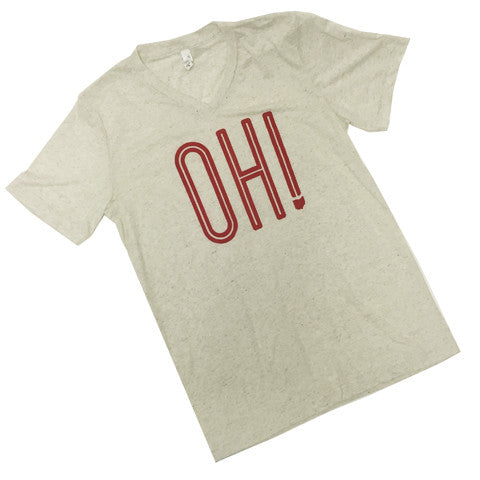 OH! V-Neck T-Shirt Oatmeal