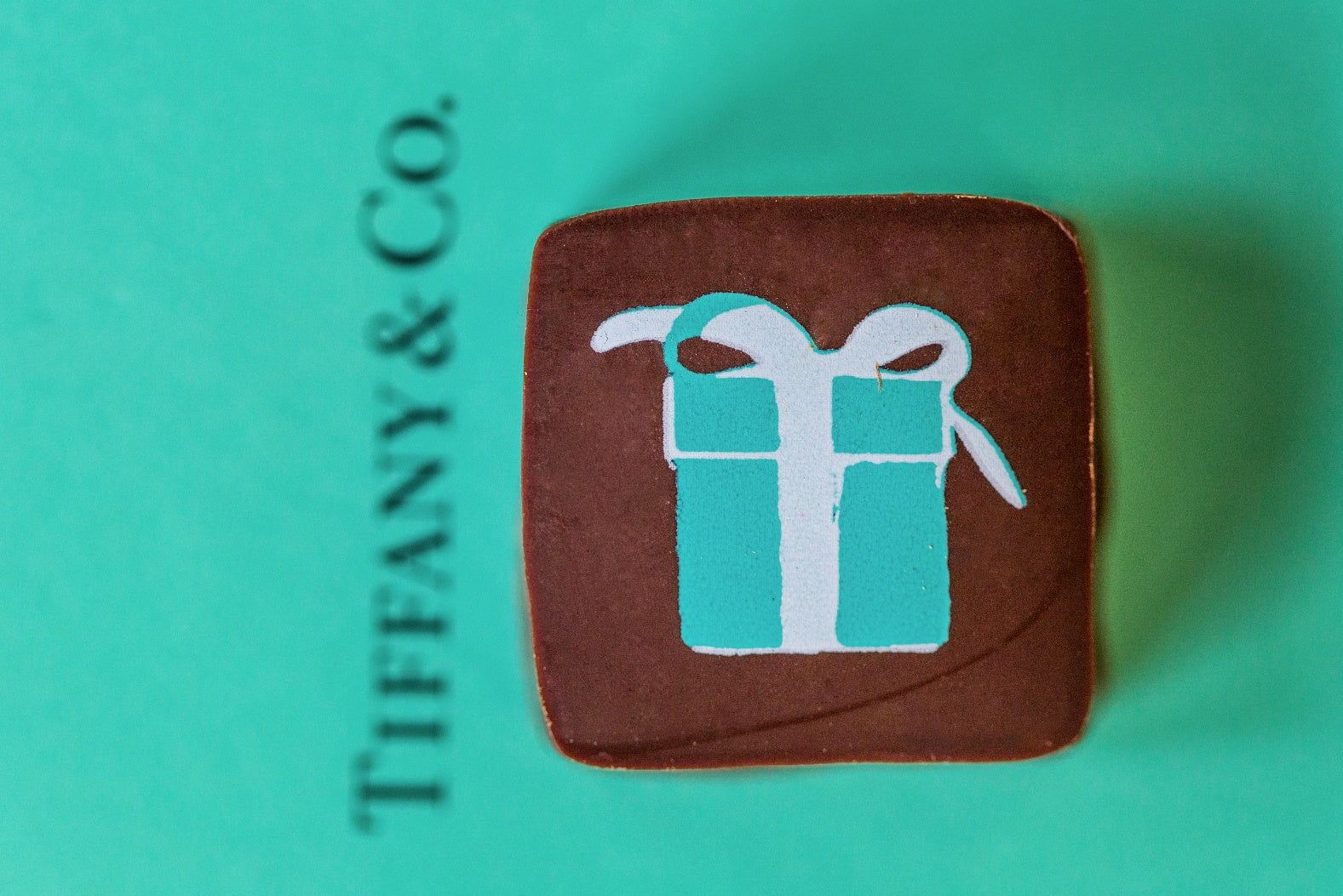 Signature ganache with Tiffany & Co. logo.