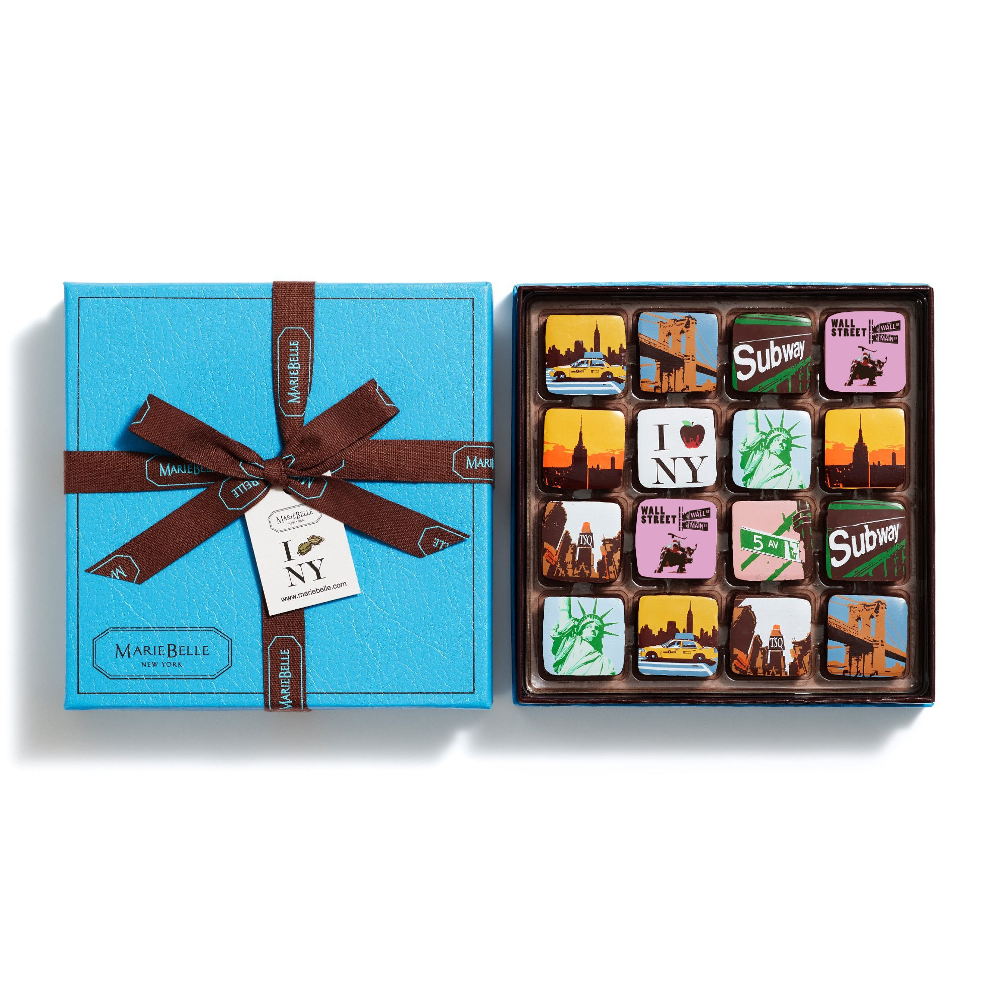 16pc New York Ganache Blue Box
