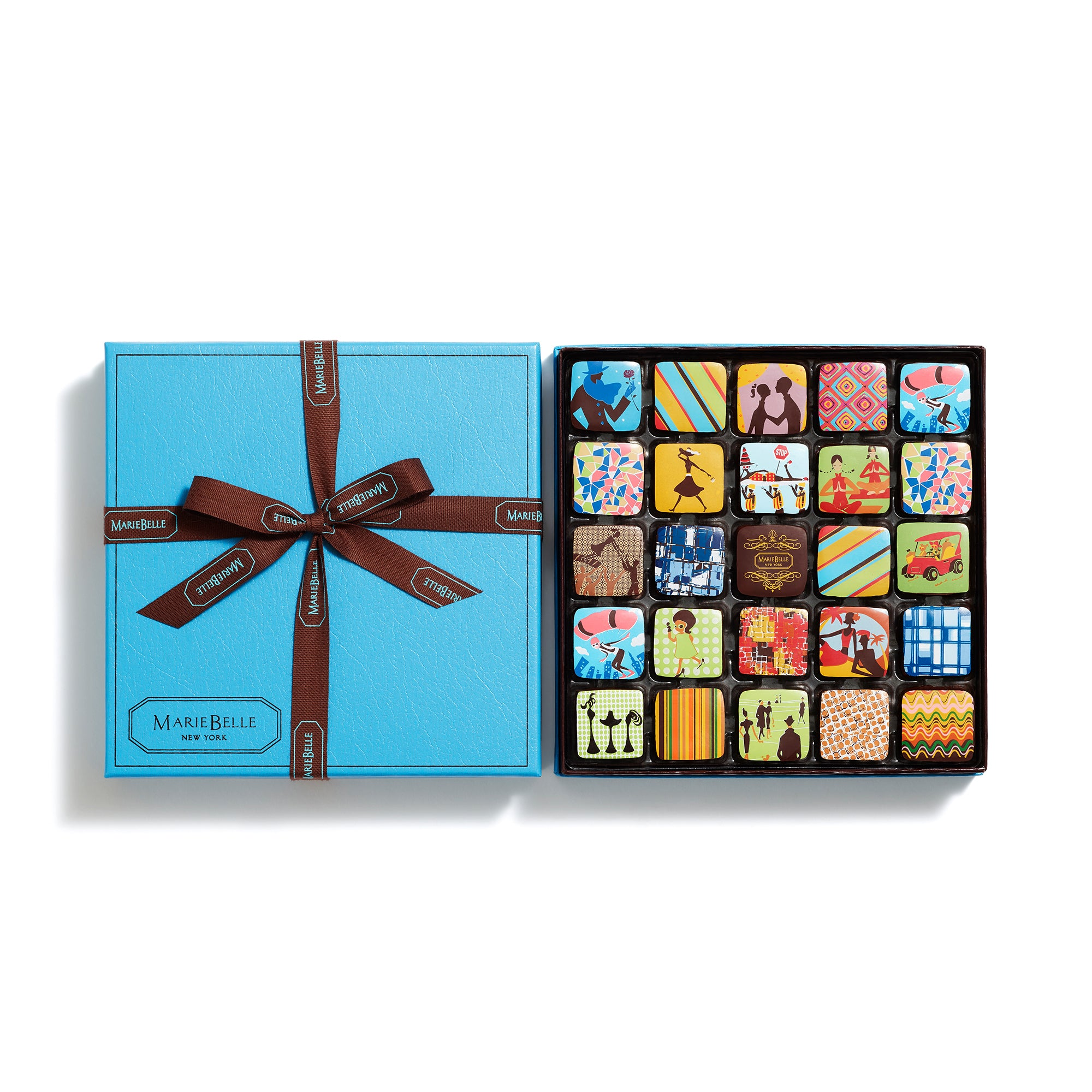 25pc Ganache Blue Box