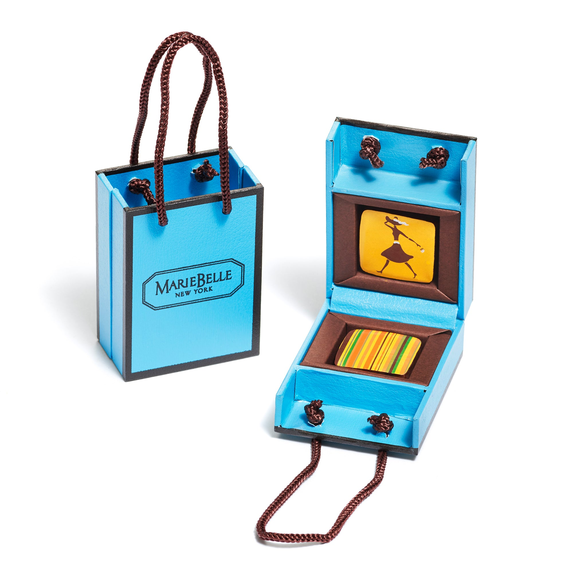 2pc Blue Tote Blue Box