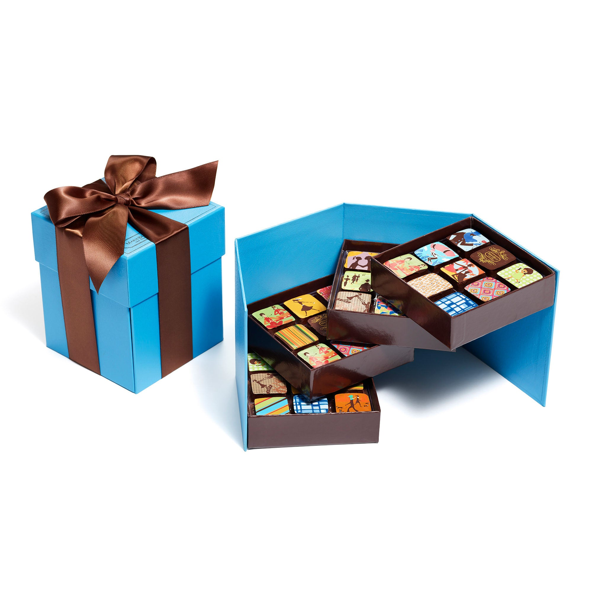 36pc Ganache Tier Blue Box