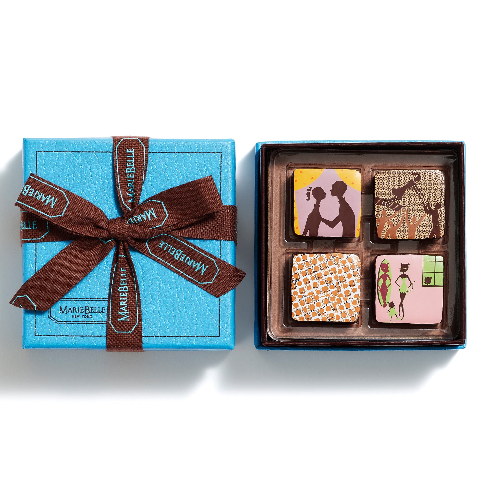 4pc Ganache Blue Box