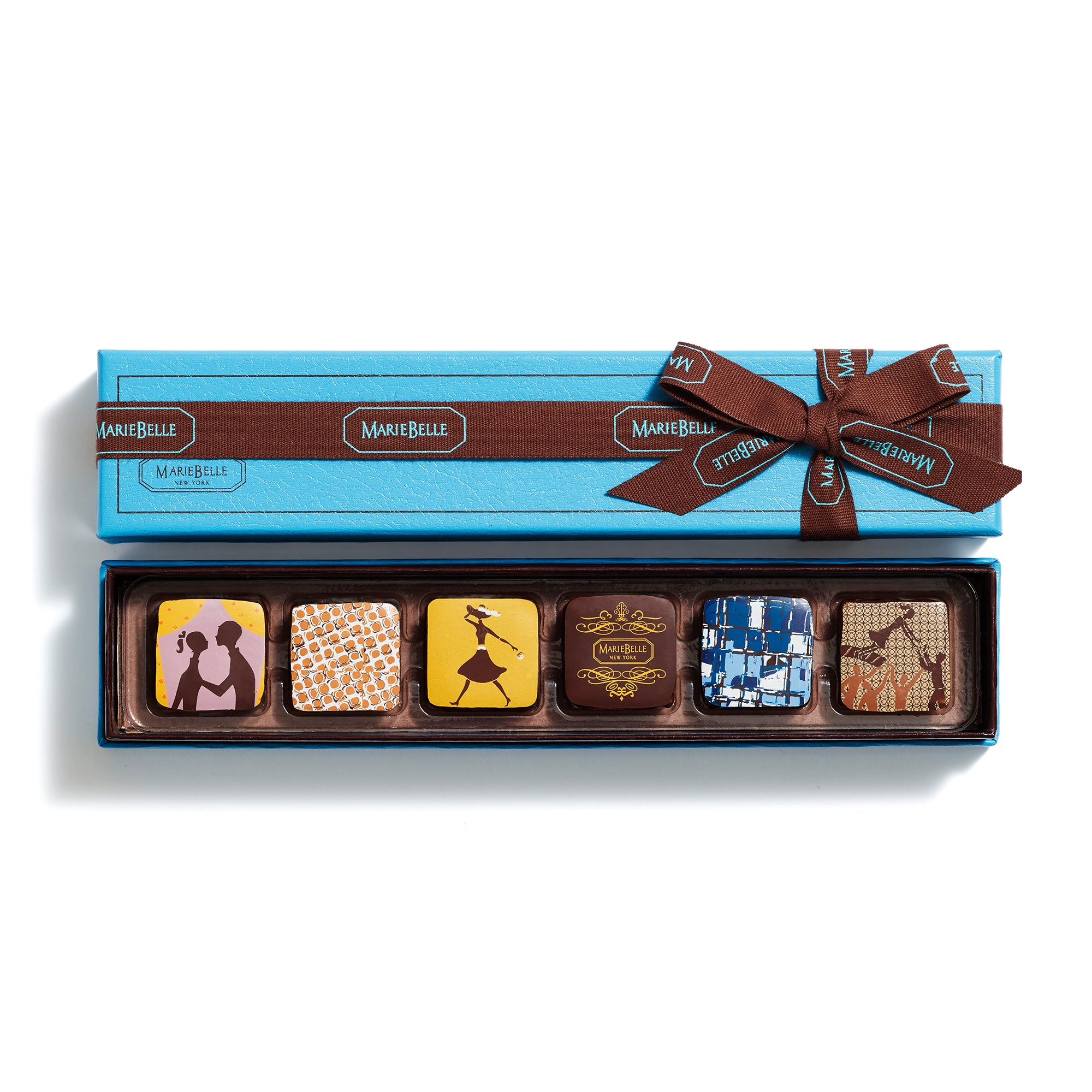 6pc Ganache Blue Box