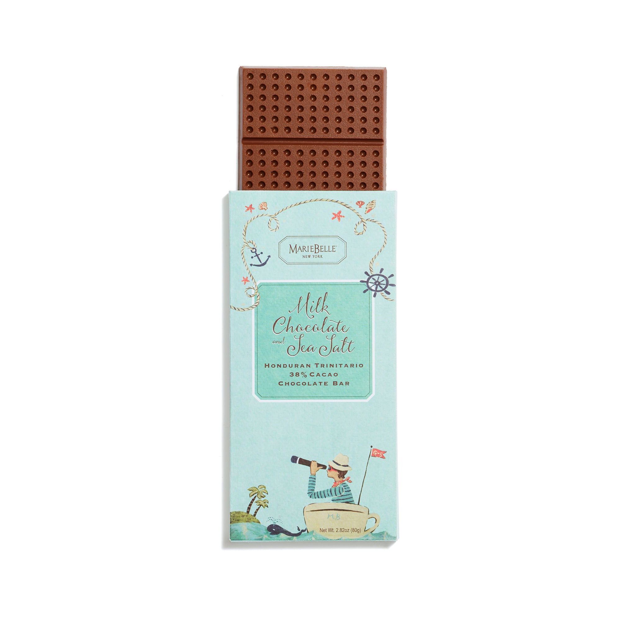80g MarieBelle Milk and Sea Salt Bar