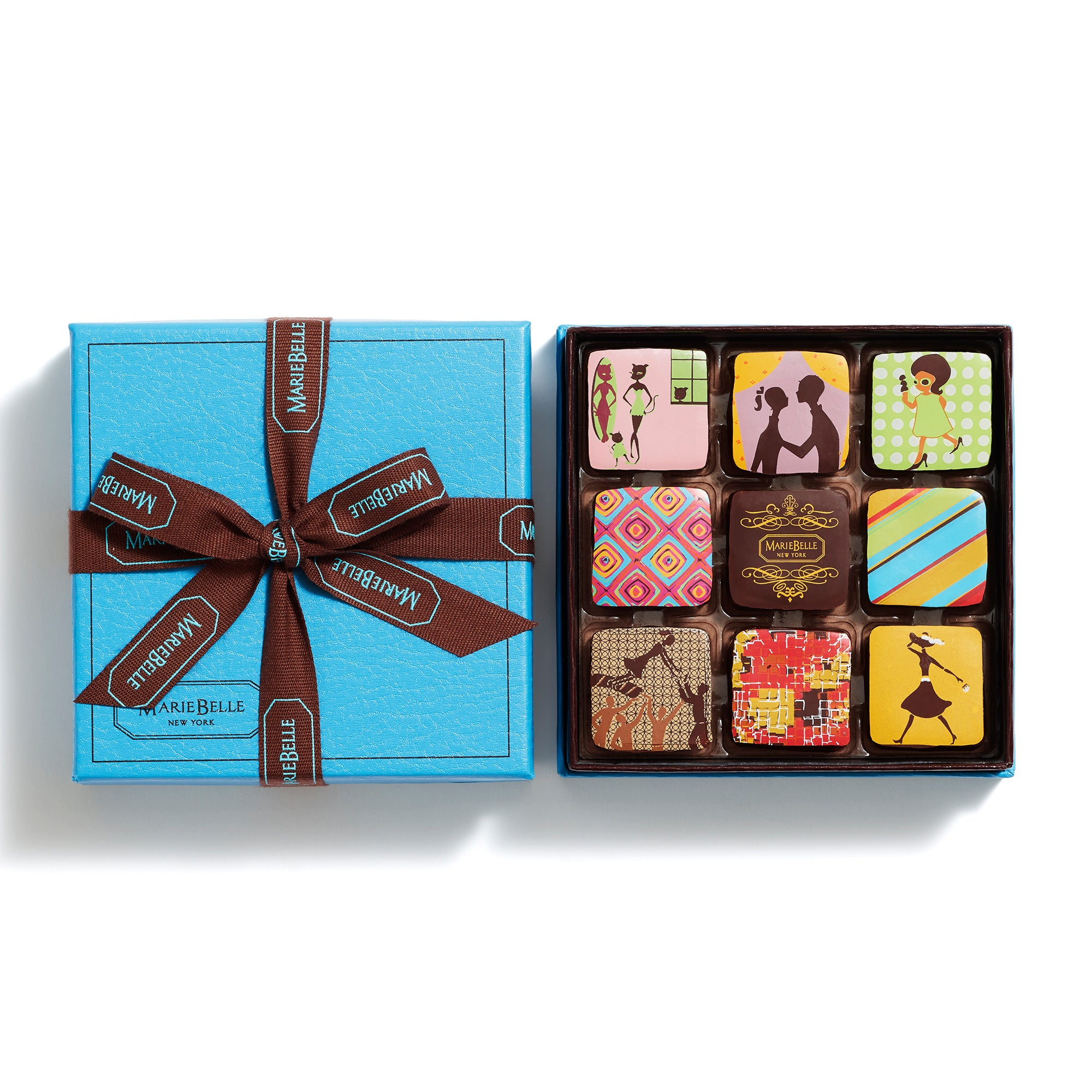 9pc Ganache Blue Box