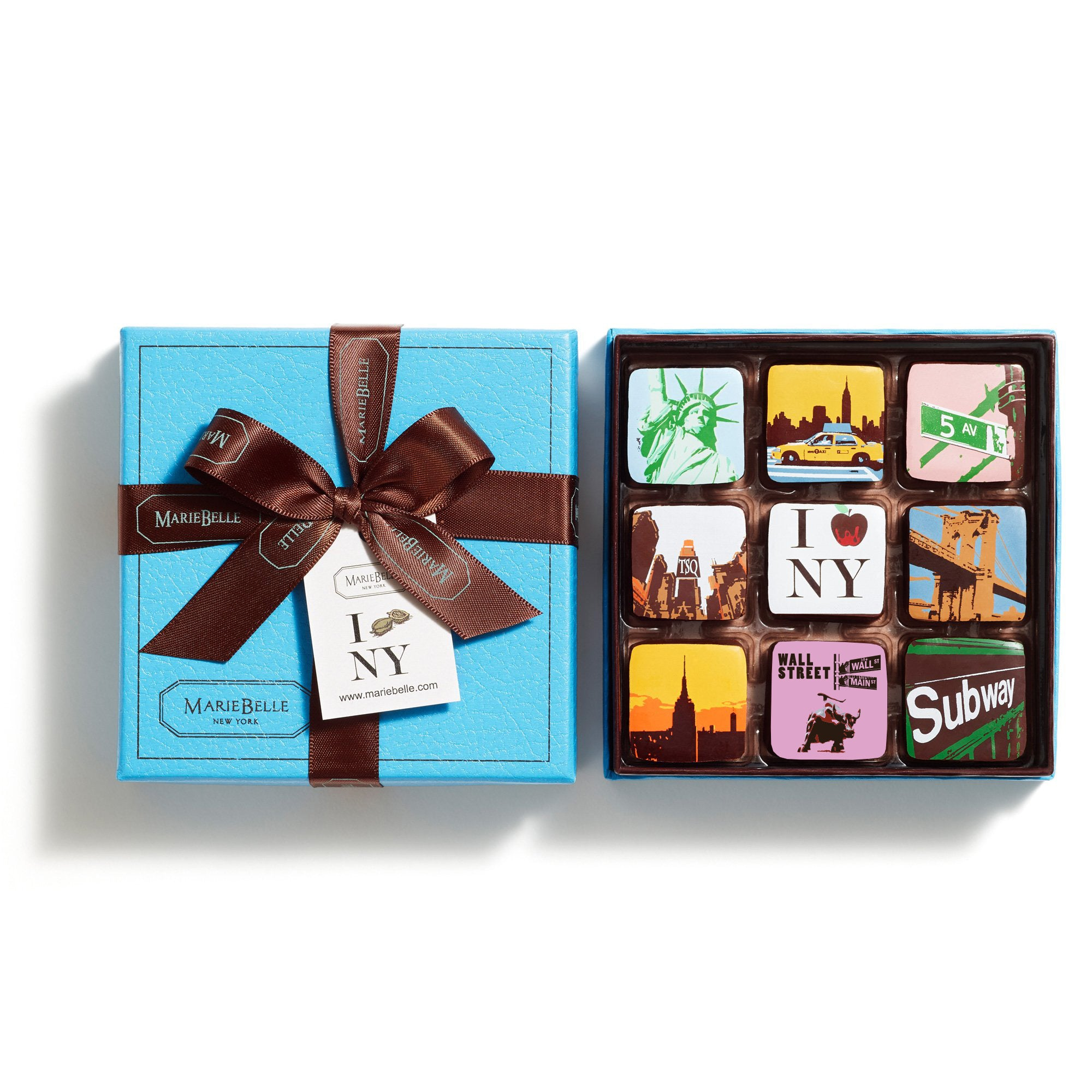 9pc New York Ganache Blue Box