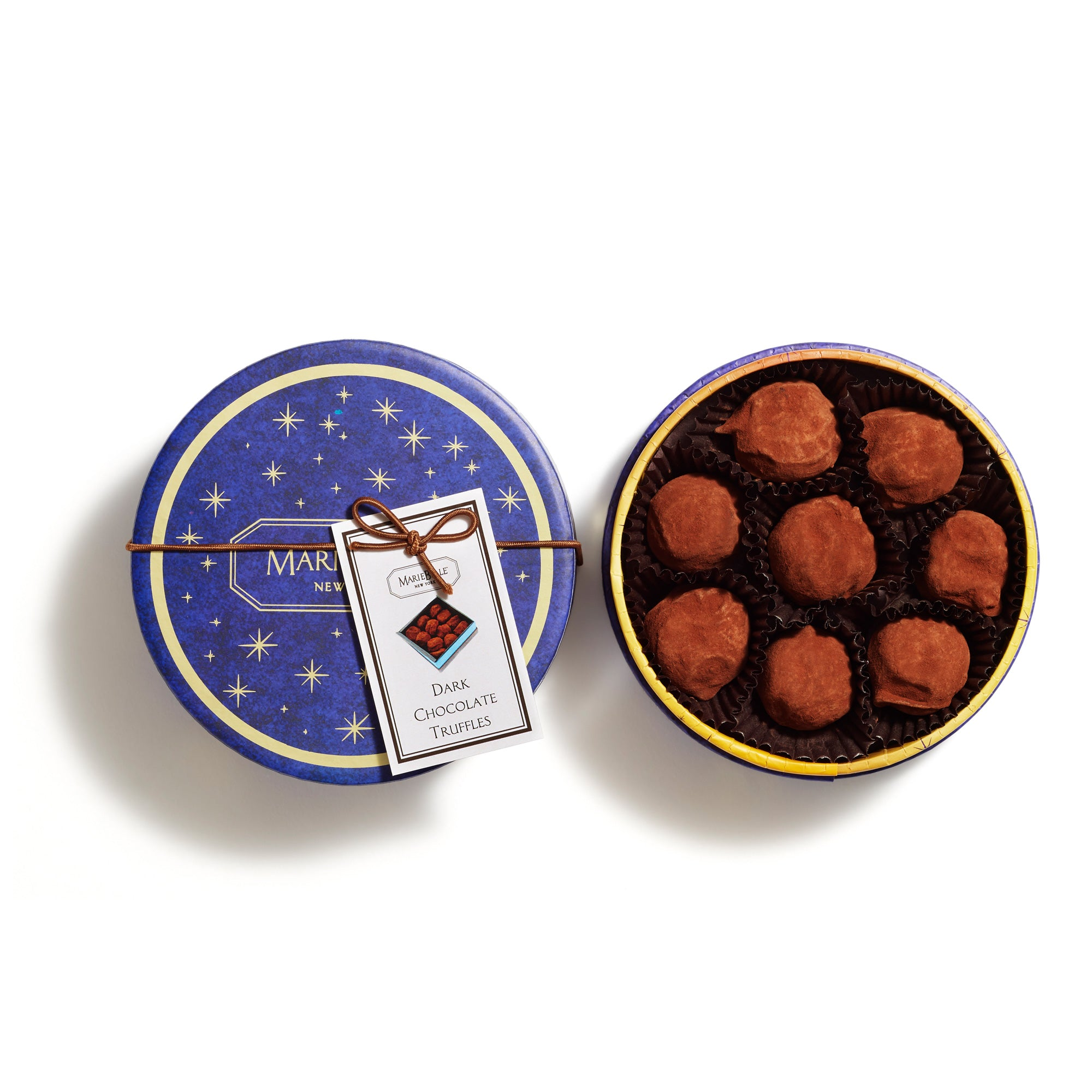 Holiday 8pcs Round Dark Truffles