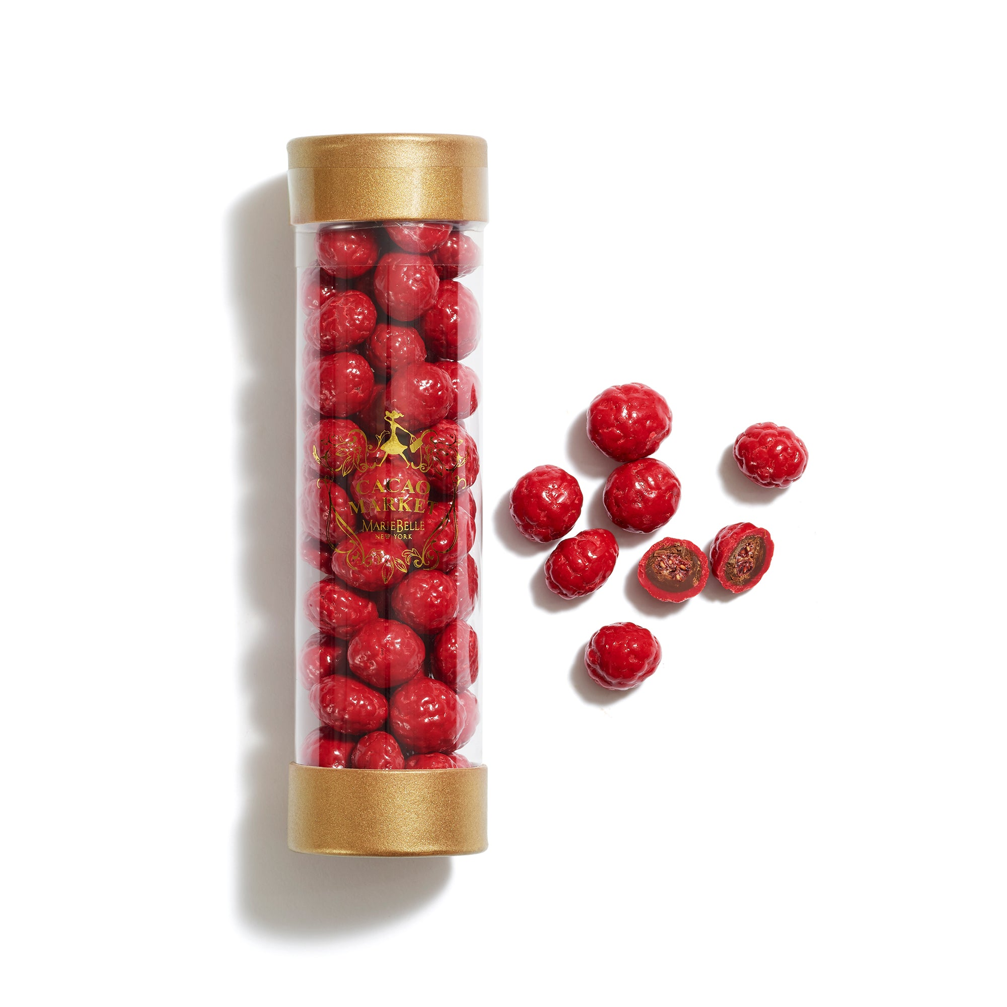 Cylinder Chocolate Raspberries