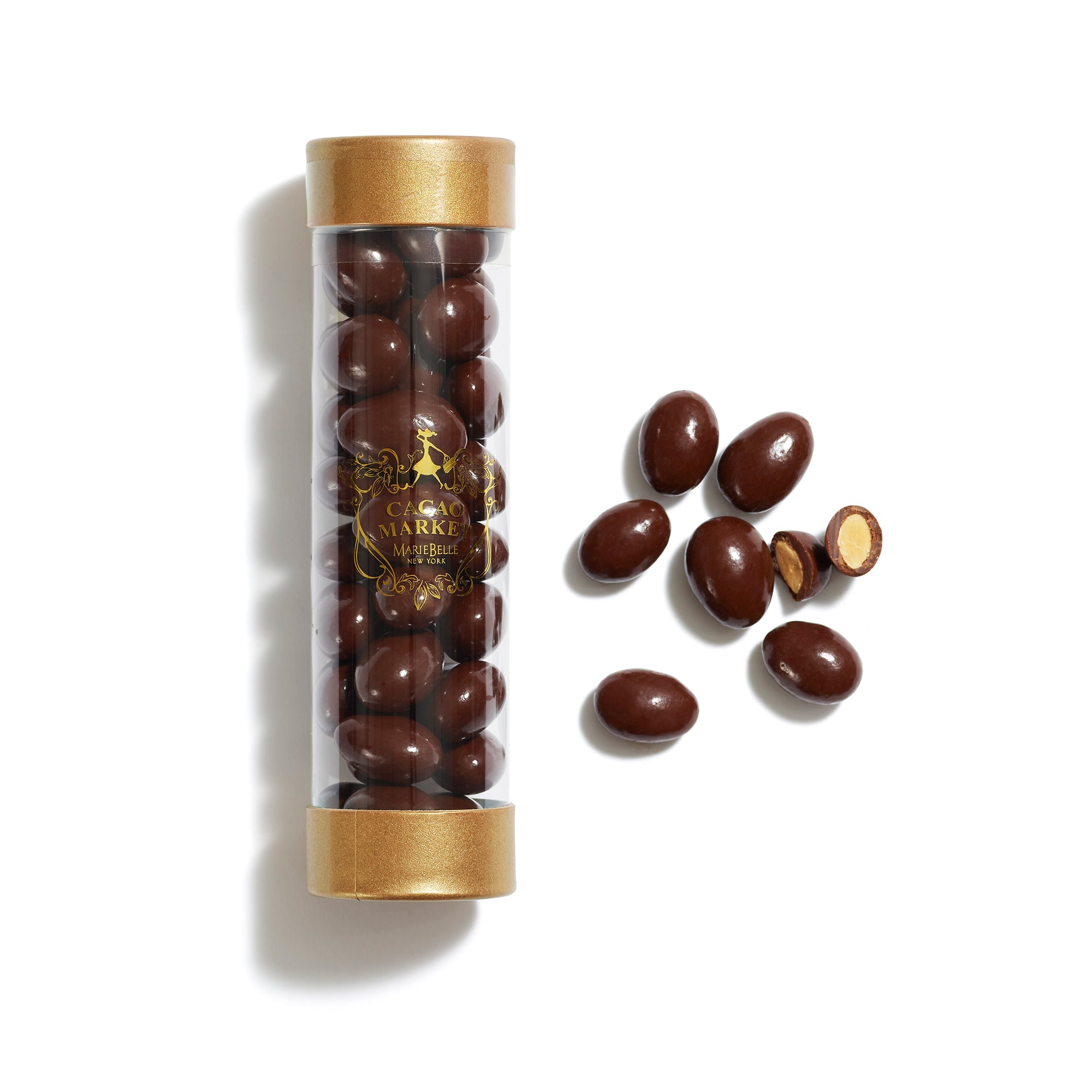 Cylinder Dark Chocolate Almonds
