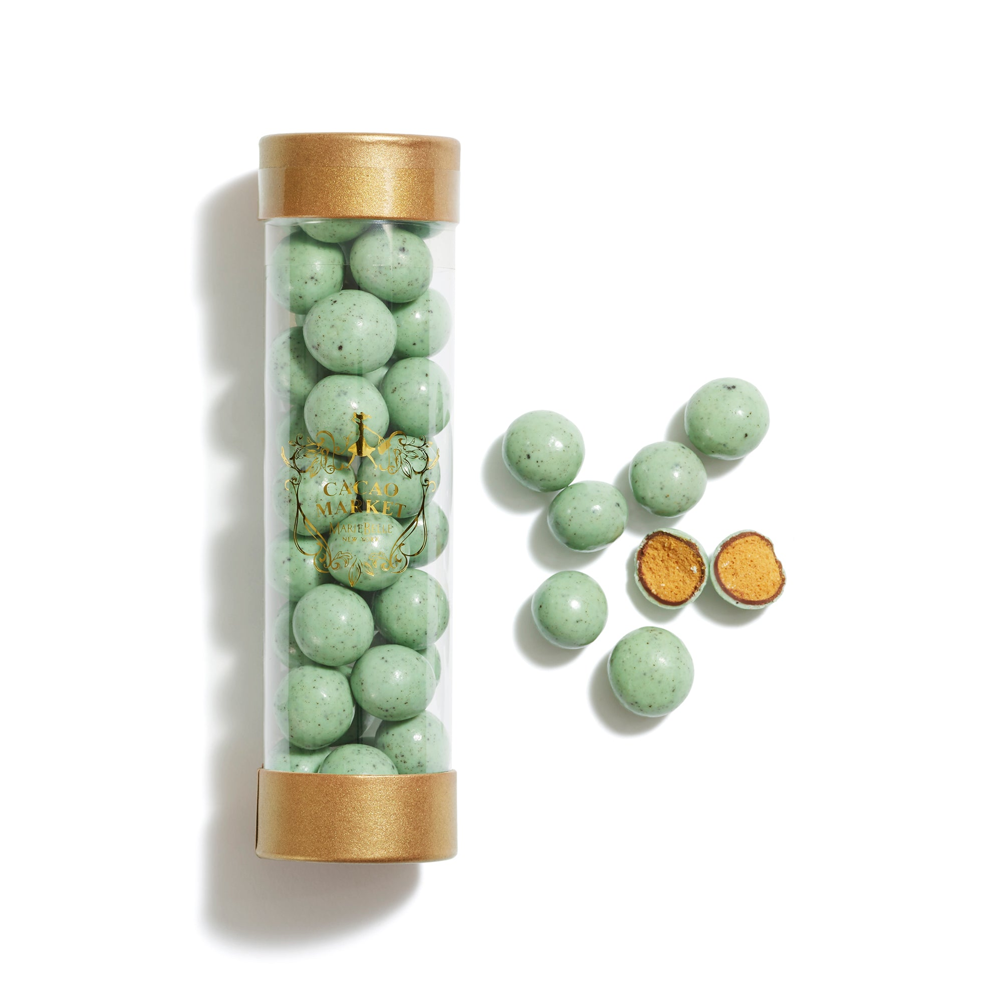 Cylinder Mint Chip Malt Balls