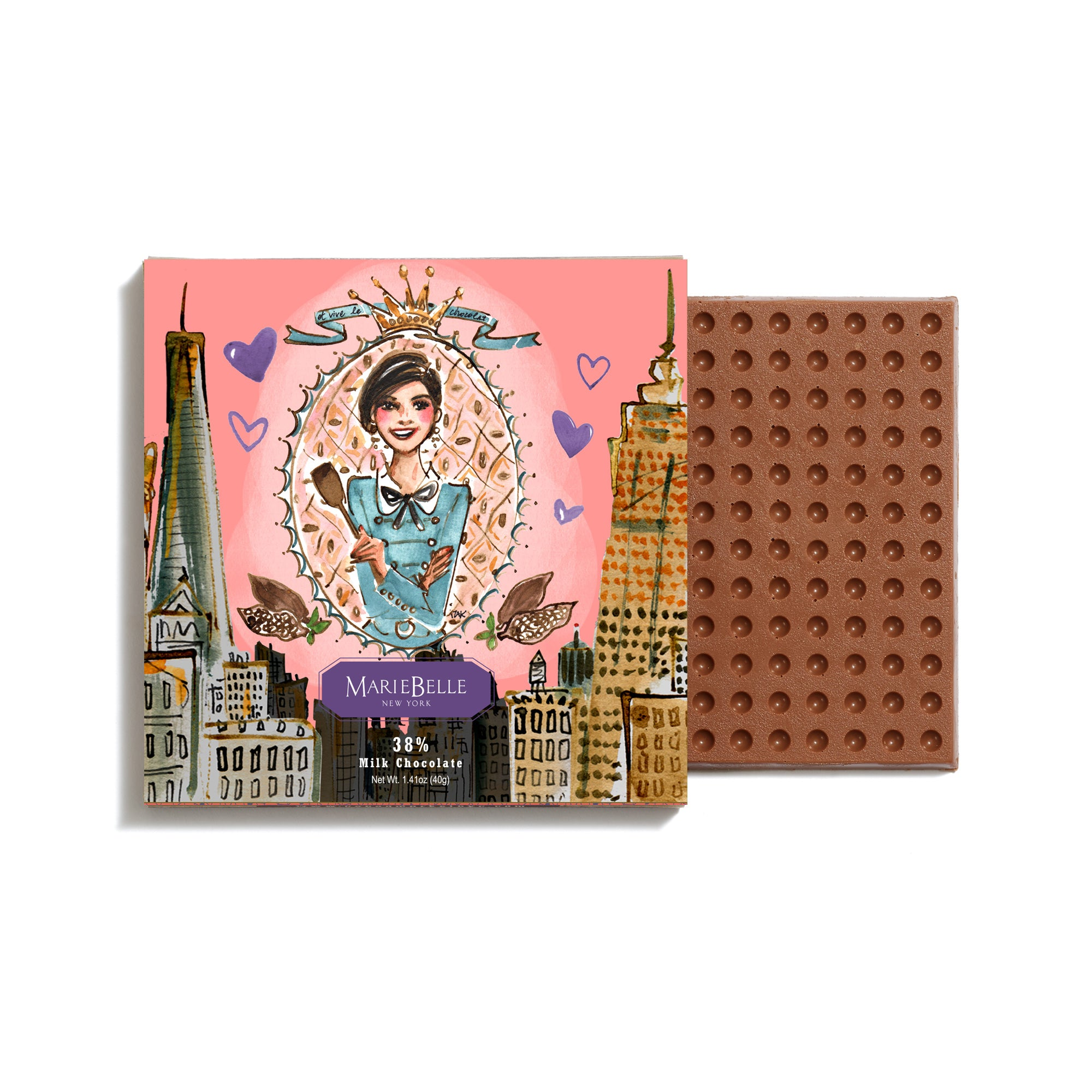 Valentine's Day Izak Zenou Milk Chocolate Bar
