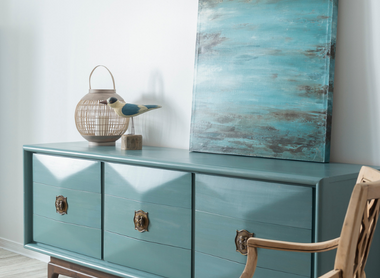 MCM Dresser Makeover in Monterey Milk Paint by Fusion