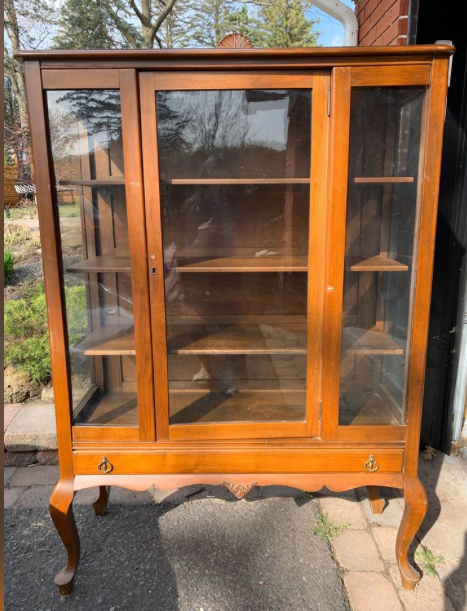 China Cabinet Makeover using Terrarium Milk Paint by Fusion