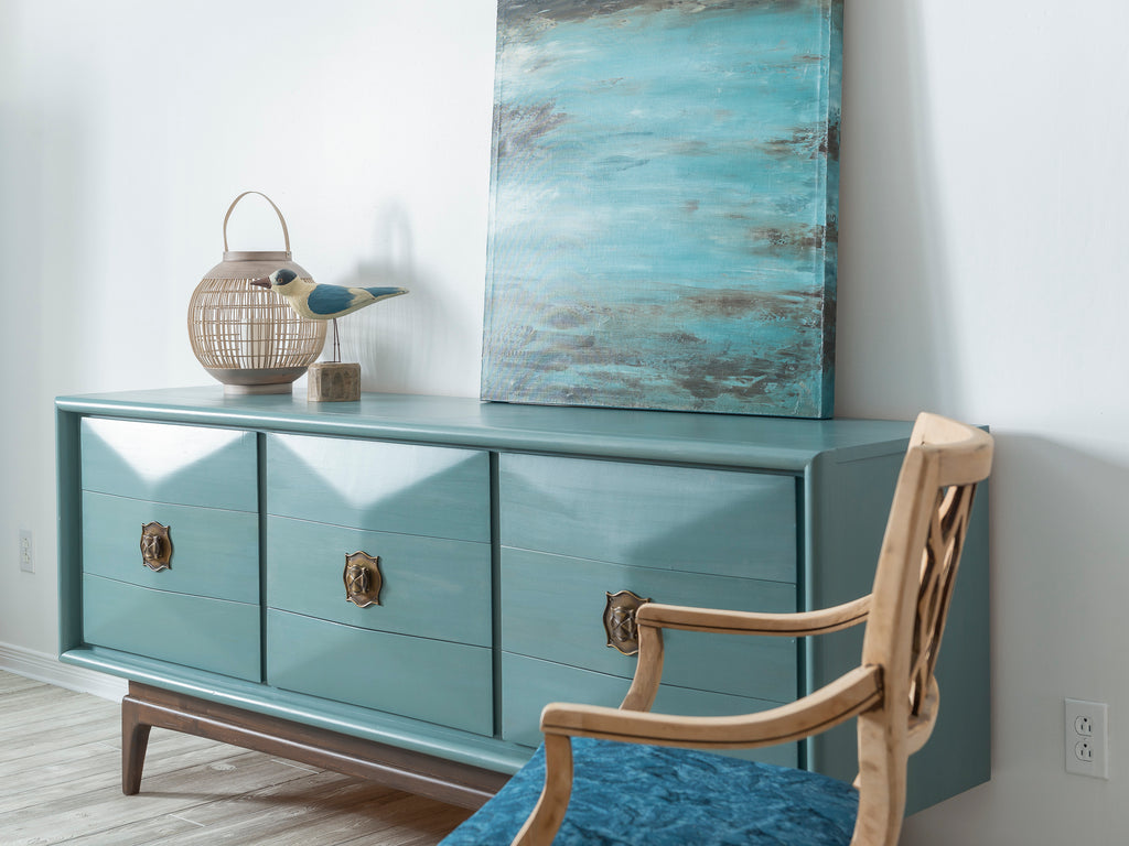 MCM Dresser Makeover with Milk Paint by Fusion Monterey