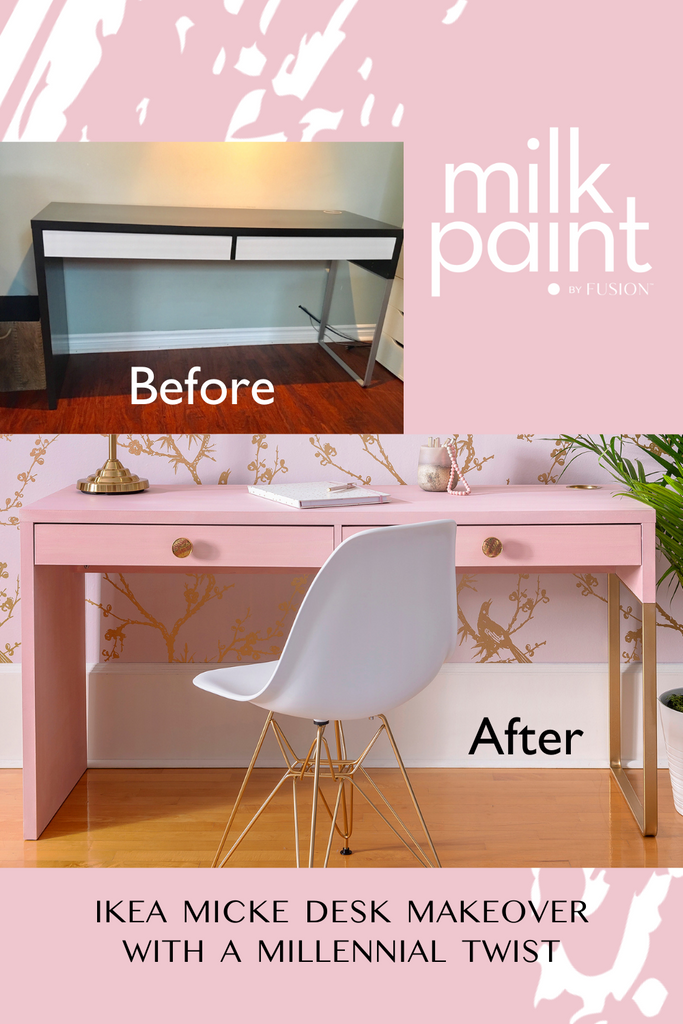 Ikea Micke Desk Makeover with a Millennial twist