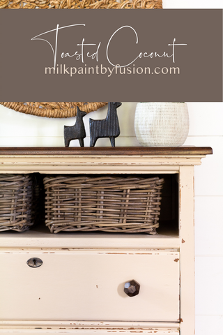 Pinterest Pin Toasted Coconut - Milk Paint by Fusion