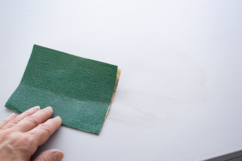 Sanding to create smooth finish