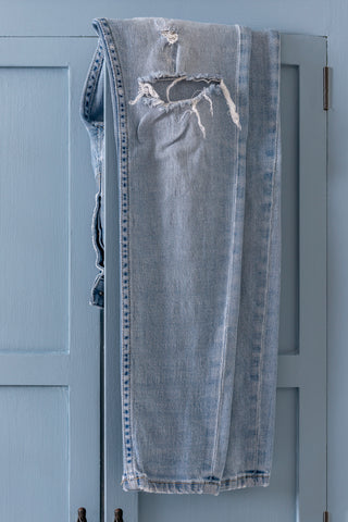 Skinny Jeans painted armoire with jeans - Milk Paint by Fusion