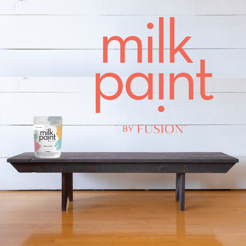 Hotel Robe bench before - Milk Paint by Fusion
