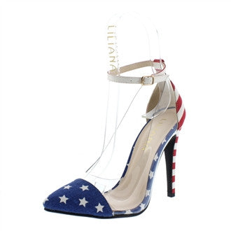 American Flag Felecia Pumps