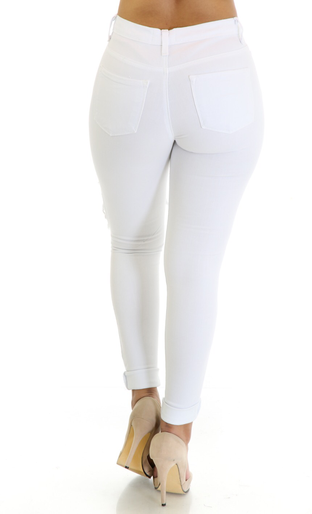 Denim White Pants