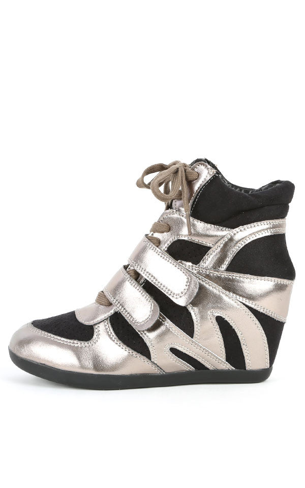 Wedge Sneakers Black/Pewter