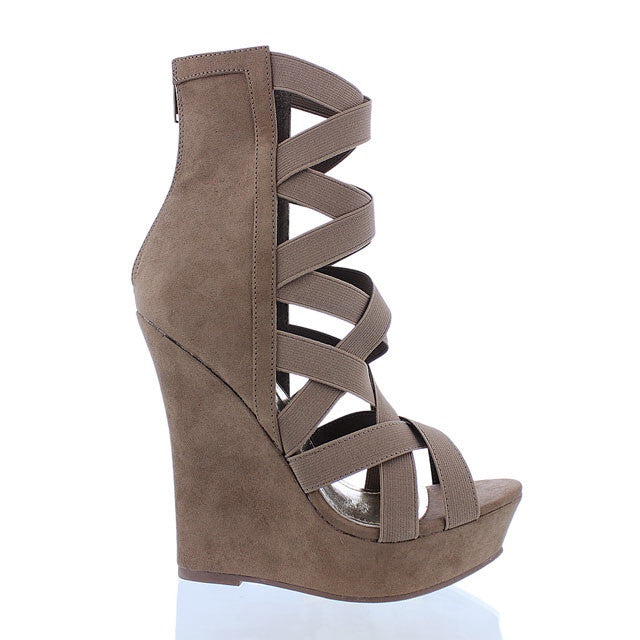 Lil Strappy Wedge Taupe
