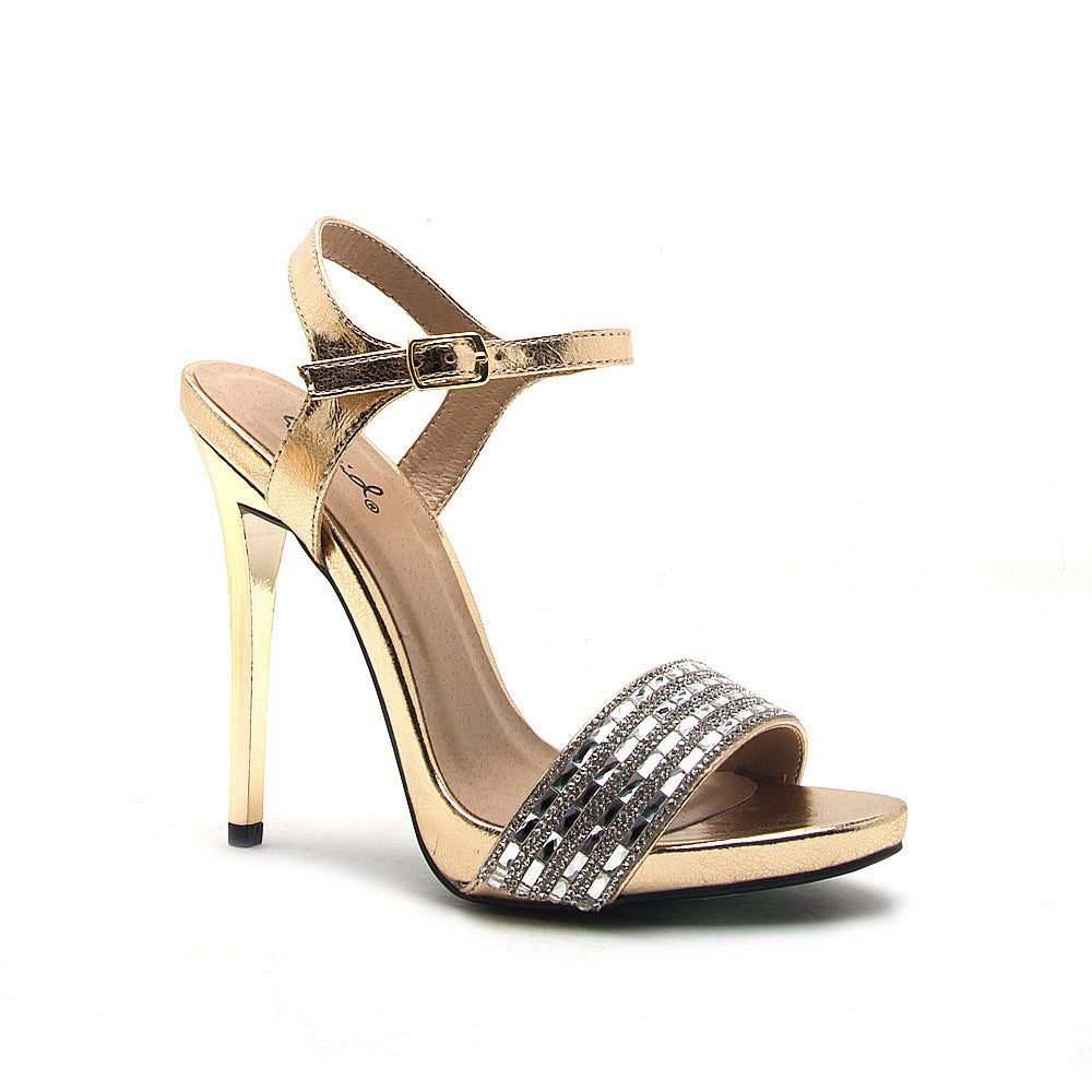 Gold Beyonce Diamond Shoes