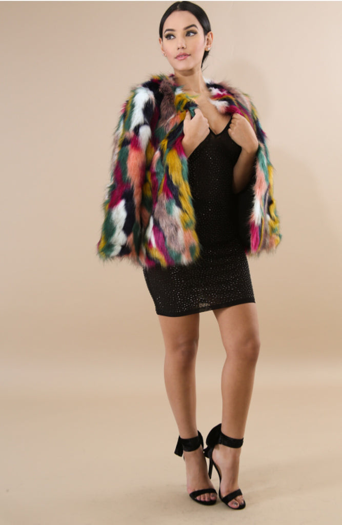 Fur Splatter Coat