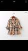 Kids Plaid Trench Coat