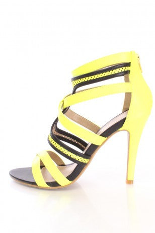 Yellow Strappy Heel