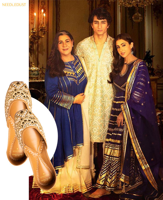 Sara Ali Khan IN NEEDLEDUST JUTTI