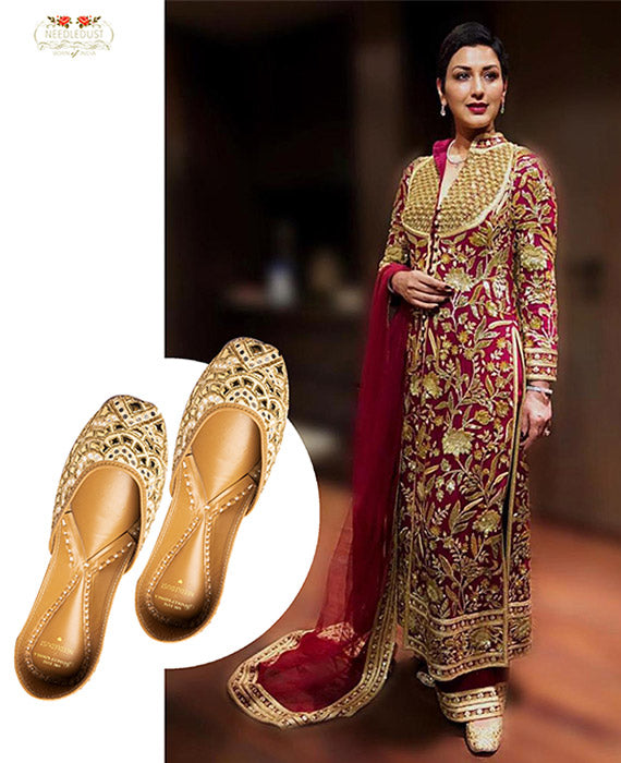 SONALI BENDRE IN NEEDLEDUST JUTTI