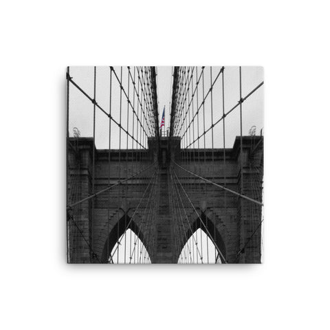 US Flag on the Brooklyn Bridge (1:1)