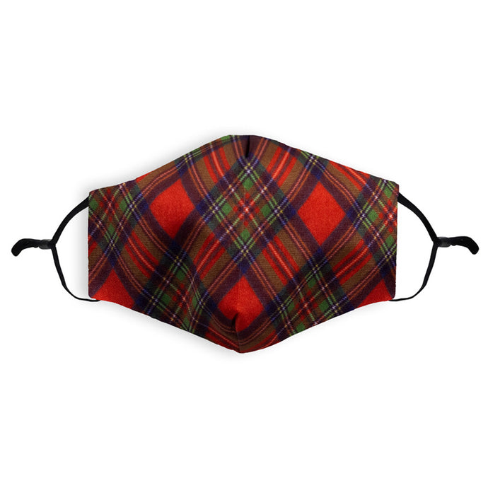 Tartan Face Mask Red | Scottish Coquitlam
