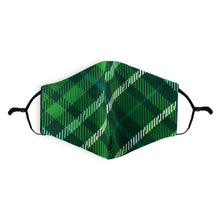 Load image into Gallery viewer, Scottish | Tartan Face Mask-Green