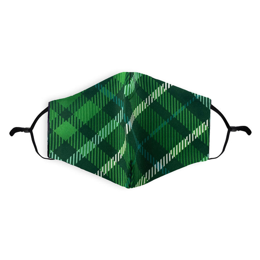 Scottish | Tartan Face Mask-Green