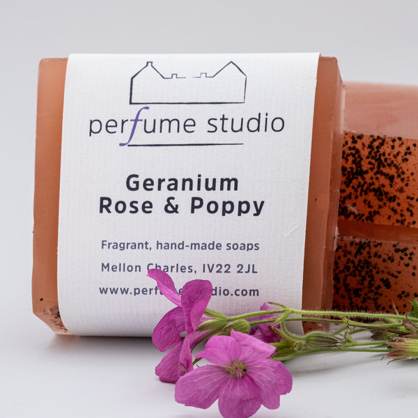 Geranium, Rose & Poppy Soap